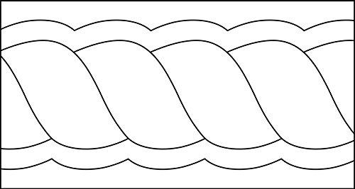 isew Quilt-Lineal ''Blatt klein'' Plexiglas 5 mm/Muster 7x5,5 cm/Lineal 12,7x16,5 cm