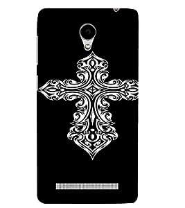 PrintVisa Tribal Art Cross Design 3D Hard Polycarbonate Designer Back Case Cover for VivoY28