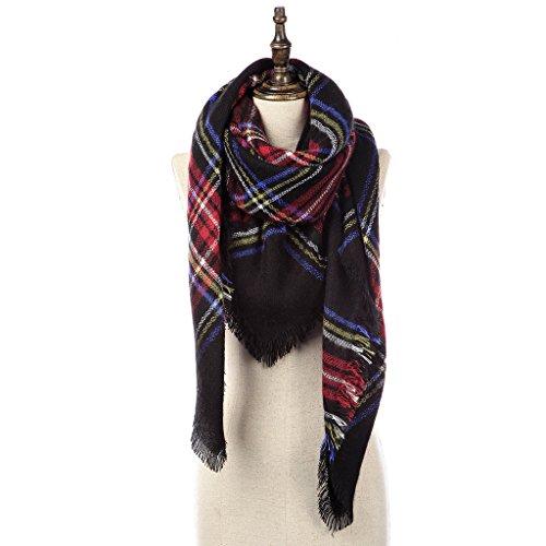 Natural Feelings Elegante Inverno Caldo Grande Coperta Tartan Plaid Sciarpa Wrap Scialle