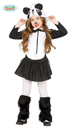 Guirca Mädchen Pandakostüm Panda Kostüm Kleid Kinderkostüm schwarz weiß Gr. 98-146, Größe:98/104 (Panda Express Kostüm)