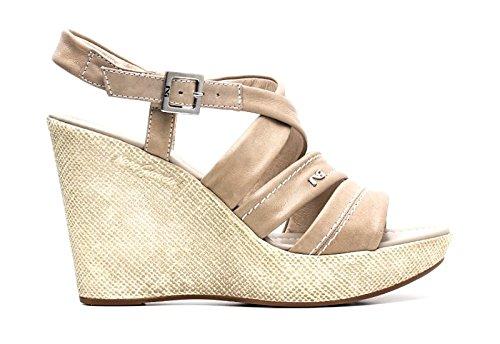 Nero Giardini Sandalo con zeppa donna Pelle Articolo P615580D 410 Sabbia P6 15580 D