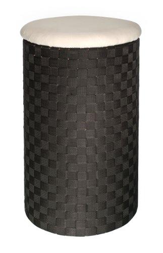 WENKO 18450100 Wäschetruhe Adria Dunkelbraun - mit Wäschesack, Fassungsvermögen 50 L, 100 % Polypropylen, 35.5 x 59 x 35.5 cm, Dunkelbraun -