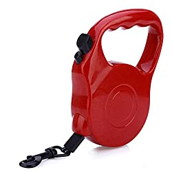Generic RED, 5M Extendable Leash : Retractable Dog Leash Lead ABS+ Nylon Pets Cats Puppy Leash Lead Automatic Retractable Walking Lead For Small And Medium Pets
