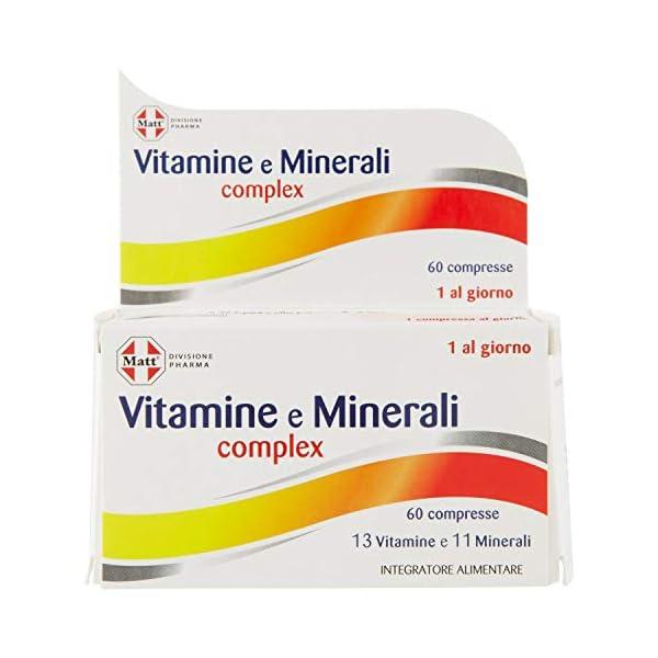 Matt Divisione Pharma Vitamine e Minerali Complex, Integratore Multivitaminico e Multiminerale - 60 Compresse, 79.8 g 1 spesavip