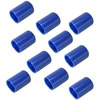 Dolity 1o Pcs de Protectora de Taco de Billar de Snooker Pieza de Seguridad Recambio Accesorio de Deportes - Azul