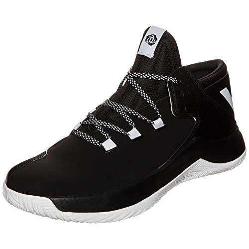 adidas Herren D Rose Menace 2 Basketballschuhe, Multicolore (Cblack/Ftwwht/Cblack), 44 EU