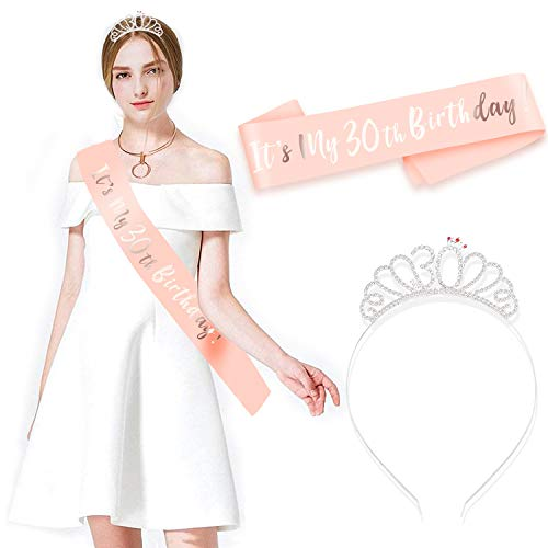 HOWAF Oro Rosa Feliz 30 cumpleaños Faja