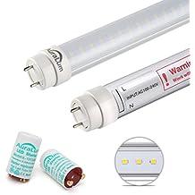 2×Auralum® Tubos LED T8 120cm 20W Blanco Natural 4000~4500K 2100LM G13 Tubos Bombillas LED Luz de Fluorescente con Lumbre LED