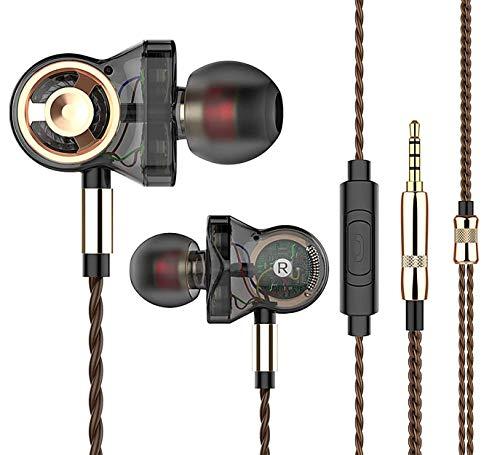 QKZ CK10 Écouteurs Intra-Auriculaires Haut de Gamme avec Microphone HD et Caisson de Basses Basses Profondes