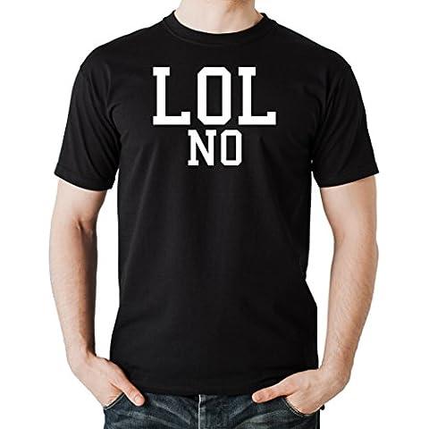 LOL No T-Shirt Negro