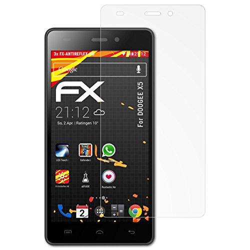 atFolix Schutzfolie kompatibel mit DOOGEE X5 Bildschirmschutzfolie, HD-Entspiegelung FX Folie (3X)
