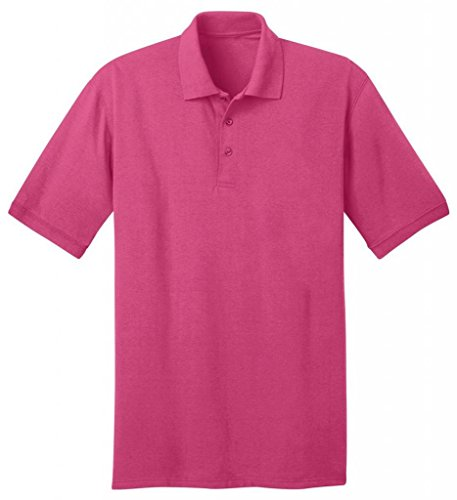 Port & Company Herren bequemes Halsband Knit Polo Jersey Sangria