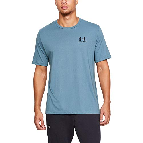 Under Armour Herren Sportstil Linke Brust Ss Kurzarmshirt, Blau (Petrol Blue Medium Heather/Black), M