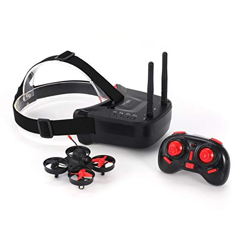 5,8G 40CH FPV Kamera Mini RC Racing Drohne Quadcopter-Flugzeuge mit 3-Zoll-Headset Auto-Search-Brille-Empfänger-Monitor