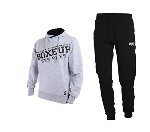 Boxeur des rues - Chándal de Hombre Fight Activewear, Hombre, Fight Activewear, Gris Mel, L