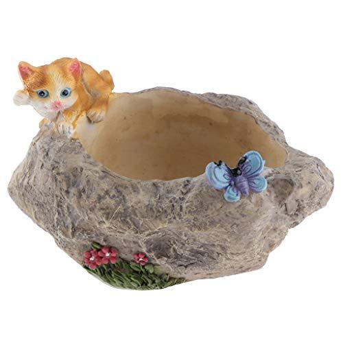 perfeclan Blumentopf, süße Haustier Figur - Katze