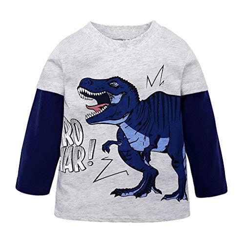 sunnymi  ® 1-7 Jahre T-Shirt Kleinkind Baby Jungen Langarm Dinosaurier Tops Kleidung