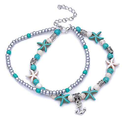 LnLyin Seestern Schildkröte Multilayer Seestern Perle Kristall Perlen Fuß Ornamente -