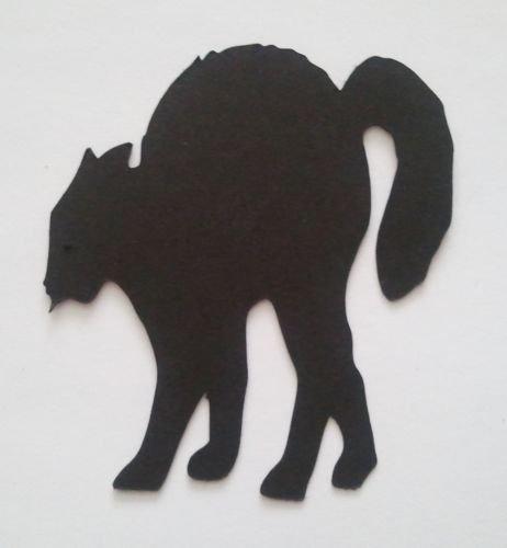 10x Halloween Katze Katzen Silhouette sterben Schnitte schwarz Karte