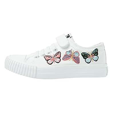 British Knights Mädchen Sneaker Off White/Off White/Butterfly, Off White/Off White/Butterfly - Größe: 34.5 EU