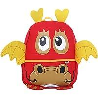 DonDon mochila de niños para chicas y chicos con motivos de animales 33 x 26 x 13 cm