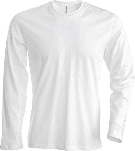 Herren T-Shirt langarm von notrash2003 (XL, Weiß)
