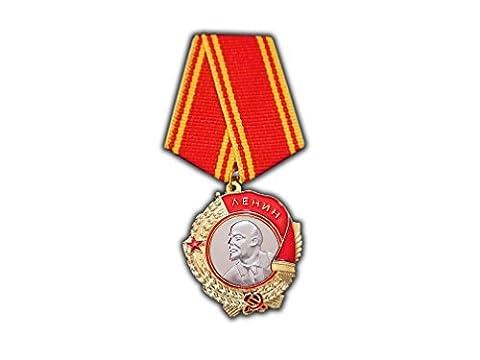 Reproduction médaille militaire soviétique ancienne Ordre de Lénine–La plus haute décoration militaire de l'URSS pour service exemplaire
