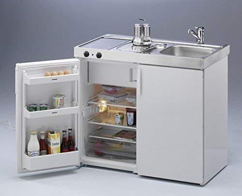 Miniküche für Gartenhaus komplett montiert, steckerfertig mit Glaskeramikfeld und Liebherr Kühlschrank von Stengel