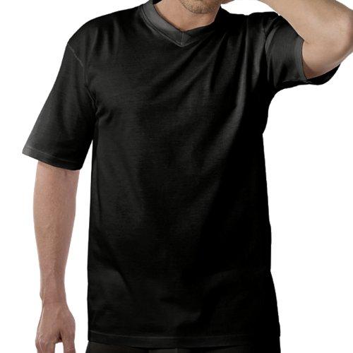 4 Götzburg Herren T - Shirts mit V Ausschnitt weiß oder schwarz Schwarz