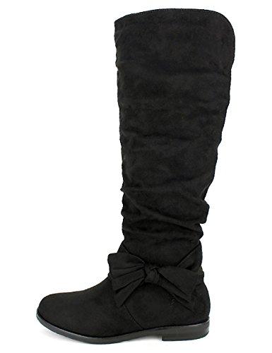 Cendriyon, Botte Simili Daim Noir Sixth Sens Moda Chaussures Femme