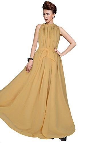 Reeva Trendz Women's Good Looking Cream Color Georgette Exclusive Designer Gown (Gowns...