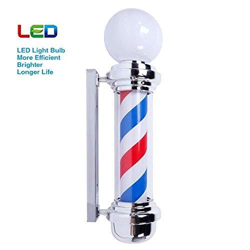 Luz LED for barberos, Estilo clásico for Exteriores Peluquería Letrero Giratorio Rojo Blanco Azul Tiras de Luces con luz Brillante, Impermeable Ahorre energía