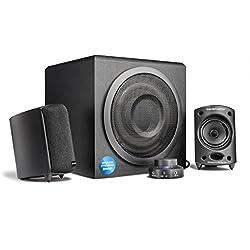 Wavemaster MOODY BT - Kit d'enceintes 2.1 Stereo Bluetooth (65 Watt) Pour TV, gaming, smartphone, PC, tablette