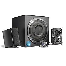 Wavemaster MOODY BT 2.1 Lautsprecher System (65 Watt) mit Bluetooth-Streaming Aktiv-Boxen Nutzung für TV/Tablet/Smartphone/PC schwarz (66206)
