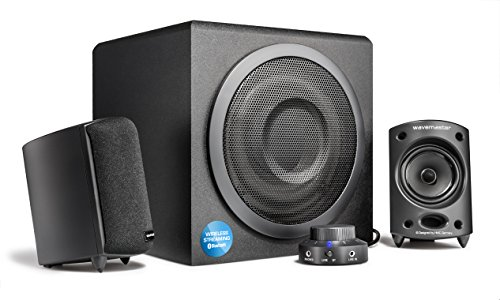 Wavemaster 66206 Moody Bt 2.1 Sistema di Altoparlanti (65 Watt) con Utilizzo di Casse Acustiche Streaming Bluetooth per Tv/Tablet/Smartphone/PC Color Nero