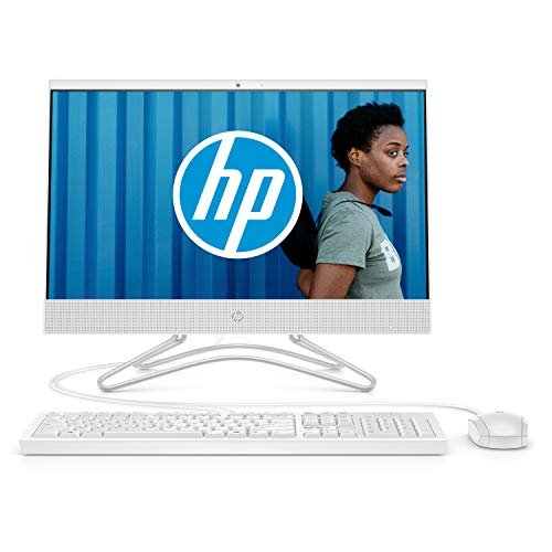 HP 22-c0052nf Ordinateur Tout-en-un 21,5'' FHD IPS Blanc (Intel Celeron, 4 Go de RAM, 1 To de Stockage, Windows 10)