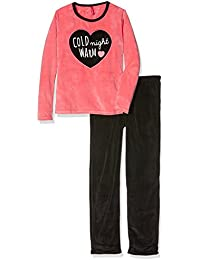 Lina Pink Ef.Wool.Pyv.Mz, Ensemble de Pyjama Fille