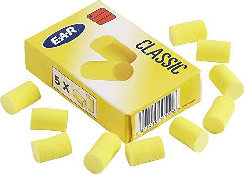 EAR Classic, 25 Paar in fünf Packungen gelb, SNR = 28 dB, Gehörschutz, Ohrstöpsel, wadle-shop ®
