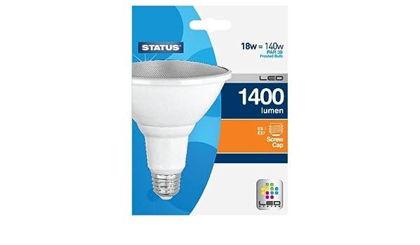 Status LED Leuchtmittel, B27 Fassung, 18 W, Warmweiß