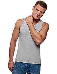 oodji Ultra Hombre Camiseta de Tirantes Básica