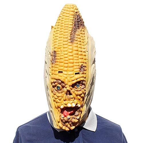 Festival Kostüm Mais - SEJNGF Mais Latex Scary Maske Halloween Festival Maske Für Bar Party Cosplay Erwachsene Halloween Maske Spielzeug Cosplay Kostüm Lustige Parodie Maske
