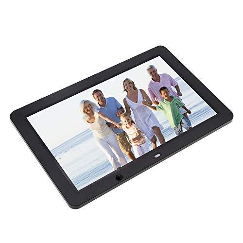 LNLJ Digitaler 12-Zoll-Bilderrahmen mit Bewegungssensor und hochauflösendem 1280X800 IPS-LCD mit Musik- und Videoplayer, Wecker und Kalender