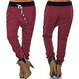 Swallowuk Damen Hose Sports Pants Outdoor Slim Fit Freizeithosen Hip Pop Haremshosen mit Kordelzug und Knopf (L, Weinrot)