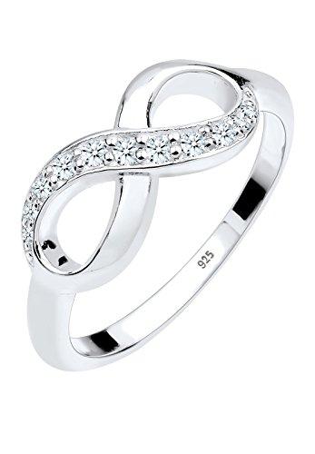Diamore Damen-Ring Infinity Unendlichkeit Verlobungsring 925 Silber Diamant (0.18 ct) Brillantschliff weiß 0602841214-58