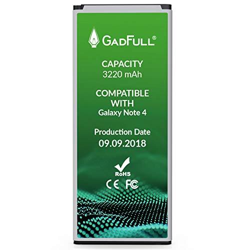 GadFull Akku kompatible mit Samsung Galaxy Note 4 | 2018 Baujahr | Entspricht Dem Original EB-BN910BBE | Lithium-Ionen-Akku Kompatible mit SM-N910F| SM-N9100 |SM-N910U |SM-N910C|SM-N910H |SM-N910A