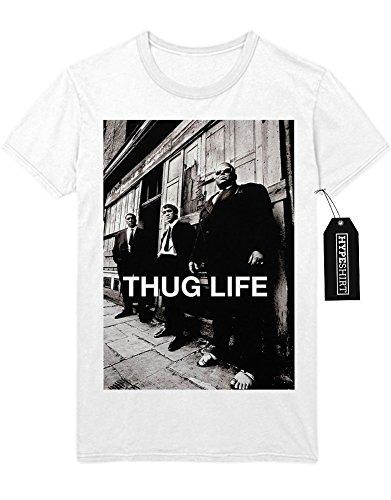 T-Shirt THUG LIFE RIOT Anarchy Mafia Gangster Every Thing Is Not Legal Lifestyle M16 Gewehr Vietnam Krieg D950004 Weiß