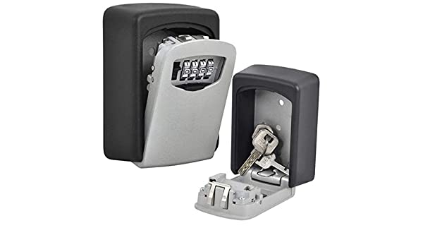 BigBig Style Key Safe 4-Digit Outdoor Key Lock Box Wall Mount Combination Lock for House Spare Keys//Office//School//Garage//Contractors