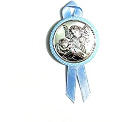 Médaille Berceau bébé | | ange gardien | Argent bilamina | 2R Argenti, argent