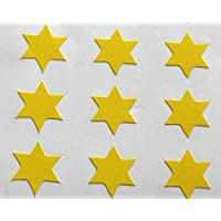 150 Labels, 10mm Star Shape, Yellow, Self-Adhesive Stickers, Minilabel Shapes