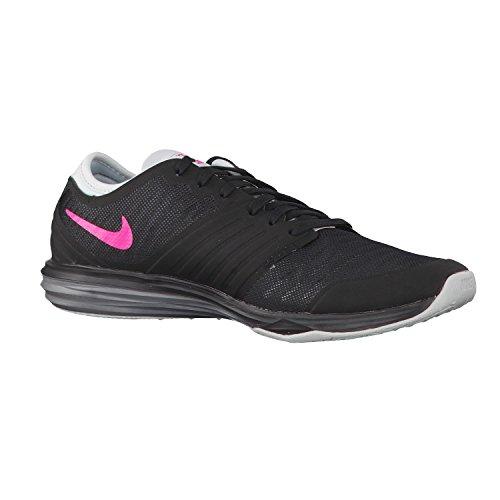Nike W Dual Fusion Tr 4, Baskets Basses Femme, 16 EU Noir - Negro (Blk / Hypr Pnk-Drk Gry-Pr Pltnm)